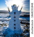 Snowman In The Yorkshire Dales  ...