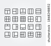 grid and frame icon set vector...