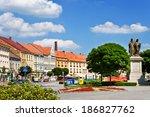 karlovo square  town trebic ... | Shutterstock . vector #186827762