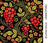 traditional russian seamless... | Shutterstock .eps vector #186829082