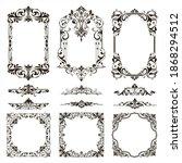 ornamental design lace borders... | Shutterstock .eps vector #1868294512
