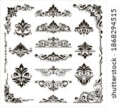 ornamental design lace borders... | Shutterstock .eps vector #1868294515