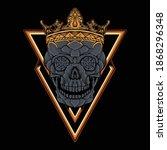 dark skull with crown vector | Shutterstock .eps vector #1868296348