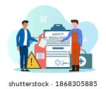 occupational safety and health... | Shutterstock .eps vector #1868305885
