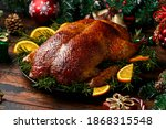 Roasted Christmas Duck With...