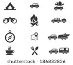 tourism and travel icons | Shutterstock .eps vector #186832826