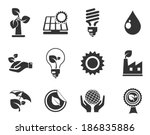 ecology icons | Shutterstock .eps vector #186835886