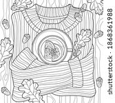 Coloring Book For Adults. Black ...