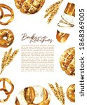 Watercolor Bread Types Frame...