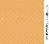 waffle texture   vector... | Shutterstock .eps vector #186838172