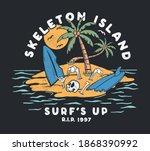 vector skull surfing... | Shutterstock .eps vector #1868390992
