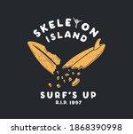 vector skull surfing... | Shutterstock .eps vector #1868390998