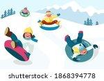 winter outdoor activities.... | Shutterstock .eps vector #1868394778