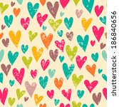 Romantic Pattern With Hearts....