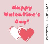 happy valentine's day greeting...   Shutterstock .eps vector #1868406655