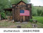 Old Abandoned Shed With An...