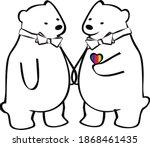 a cute polar bear gay couple in ...   Shutterstock .eps vector #1868461435