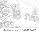 happy little girl and her merry ... | Shutterstock .eps vector #1868496622
