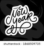 happy new year 2021 beautiful... | Shutterstock .eps vector #1868509735