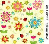 Spring Seamless Pattern. Raster ...