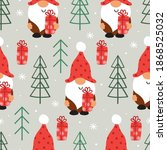 seamless pattern with christmas ... | Shutterstock .eps vector #1868525032