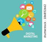 digital marketing concept for... | Shutterstock . vector #186852662