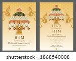 thai buddhist monk robes with... | Shutterstock .eps vector #1868540008