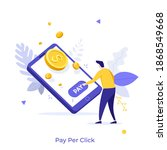 man pressing payment button on... | Shutterstock .eps vector #1868549668