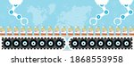 production and distribution of... | Shutterstock .eps vector #1868553958