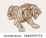 graphical vintage drawing of... | Shutterstock .eps vector #1868595715