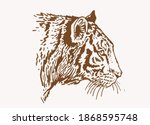 graphical vintage drawing of... | Shutterstock .eps vector #1868595748