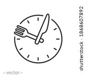 time eat lunch icon  hour... | Shutterstock .eps vector #1868607892