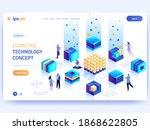 vector landing page of...   Shutterstock .eps vector #1868622805