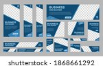 set of business web banners... | Shutterstock .eps vector #1868661292