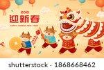 chinese new year greeting...   Shutterstock . vector #1868668462