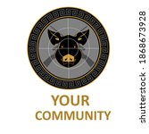 hunter pig commynity pest sports | Shutterstock .eps vector #1868673928
