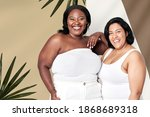 attractive plus size model... | Shutterstock . vector #1868689318