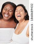 body positivity women laughing... | Shutterstock . vector #1868689432