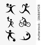 sport design over white... | Shutterstock .eps vector #186869528