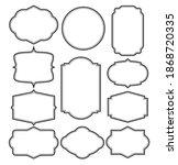 set of frames border design | Shutterstock .eps vector #1868720335