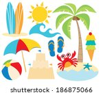 at the beach   surfing   Shutterstock .eps vector #186875066