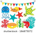 under the sea 3 | Shutterstock .eps vector #186875072