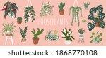 house plants set. trendy home... | Shutterstock .eps vector #1868770108