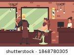 barbershop background with... | Shutterstock .eps vector #1868780305
