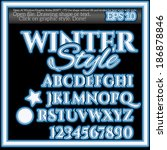 cold winter graphic styles | Shutterstock .eps vector #186878846
