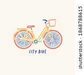 city bike. bicycle. bike icon...
