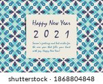 business new year 2021 wishes.... | Shutterstock .eps vector #1868804848