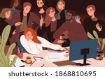 stressed woman failed to meet... | Shutterstock .eps vector #1868810695