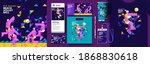 set of vector illustrations.... | Shutterstock .eps vector #1868830618