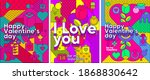 set of vector illustrations.... | Shutterstock .eps vector #1868830642